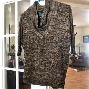 Wet Seal Chocolate Blouse Wood Buttons